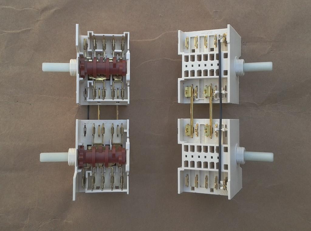 Переключатель режимов двойной семипозиционный 5HE / 571 для электроплит, электродуховок   DREEFS, Италия