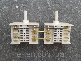 Переключатель режимов двойной семипозиционный 5HE / 571 для электроплит, электродуховок   DREEFS, Италия, фото 2
