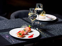 Блюдо фарфоровое круглое Lubiana Hotel 310 мм (1138), фото 2
