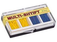 Штифт беззольный MULTI-SHTIFT (80 шт.),жел.,син., 2 развертки