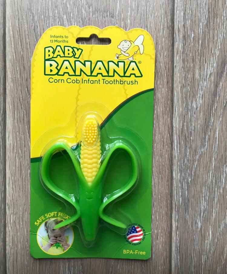 Грызунок- прорезыватель для малышей кукуруза, Baby Banana
