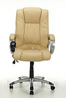 Кресло с массажем MANLINE+ПОДОГРЕВ бежевое