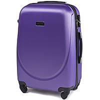 Большой пластиковый чемодан Wings 310 на 4 колесах фиолетовый