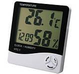 HTC-1 – цифровой прибор 3 в 1: термометр, гигрометр и часы, измерение температуры/влажности воздуха в комнате, фото 6