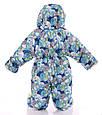 Детский комбинезон трансформер для новорожденных зимний (синяя галактика), фото 4