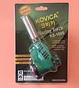 Горелка-резак с пьезоподжигом KOVICA Blazing Torch KS-1005 под газовый баллончик 220г    Корея, фото 6