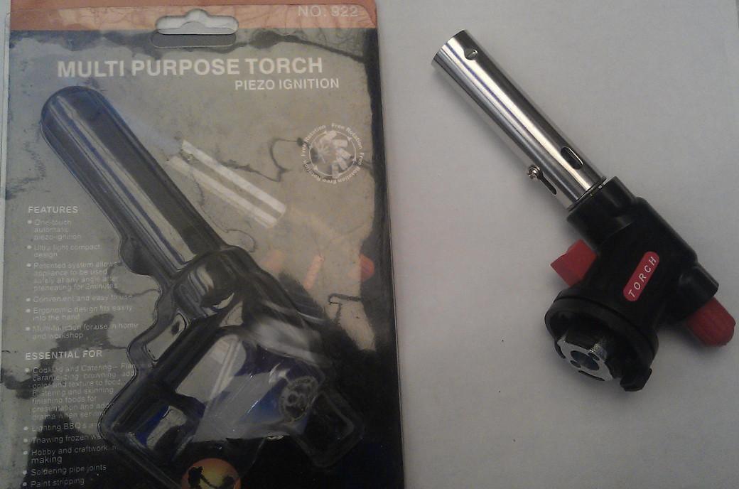 Горелка-резак TorchMulti Purpose Torch JD-18 с пьезоподжигом под газовый баллончик 220г