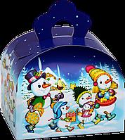"""Упаковка картонная """"Ларчик Снеговички"""" для сладостей 150г"""