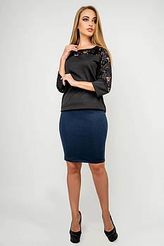 Жіноча спідниця прямого покрою Торрі / розмір 44-52 колір синій