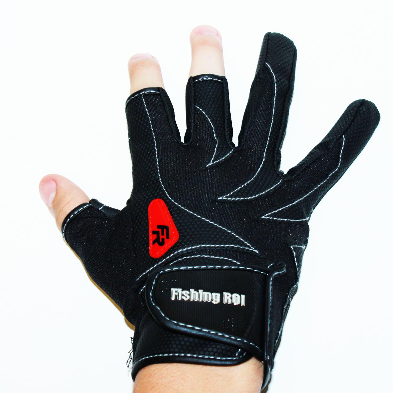 Перчатки спиннингиста «FISHING ROI» WK-05 Черные