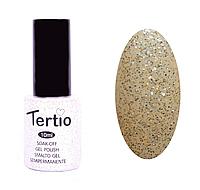 Гель-лак Tertio №61 прозрачный с серебрянными и голубыми блесткам 10 мл