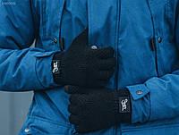 Мужские черные перчатки Staff black KAR0006