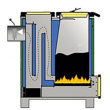 Шахтный твердотопливный котел длительного горения Макситерм 12 кВт, фото 3