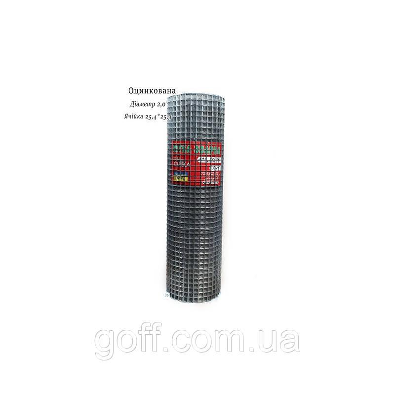 Сетка металлическая для клеток 25,4х25,4х2,0мм 1х15м