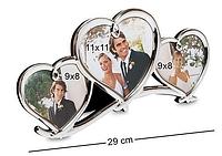 """Фоторамка """"Влюблённые сердца"""" 29 см CHK-036"""