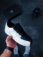 Мужские черно-белые кроссовки Nike Air Force 1 '07 Split