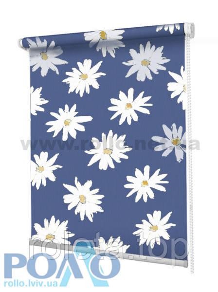 Ролети тканинні Ромашки Сині