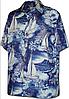Рубашка гавайка Pacific Legend 460-3619 navy