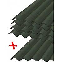 Лист волнистый битумный Onduline Лист битумный DIY зеленый 2000х760 мм