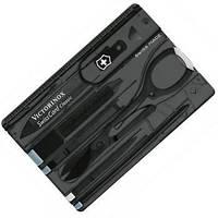 Набор Инструментов Викторинокс Victorinox SWISSCARD (82х54х4мм, 10 функций), черный прозрачный 0.7133.T3