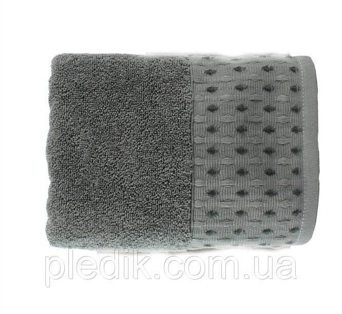 Рушник махровий 70х140 Hobby MARSEL 560 г/м2 т. сірий