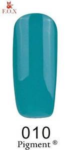 Гель-лак F. O. X. 6 мл Pigment 010 бірюзово зелений, емаль