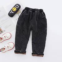 Теплые стрейчевые штаны утепленные плюшем 7446214-1, код (39831) в наличии: 100см,120см,130см