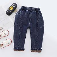 Теплые стрейчевые штаны утепленные плюшем 7446214-2, код (39832) в наличии: 100см,110см,130см,140см