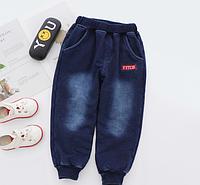 Утепленные плюшем зимние штаны 7446212-2, код (39828) в наличии: 140см