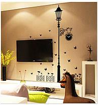"""Наклейка на стену, украшения стены наклейки для кухни """"столб с часами"""" 110см*185см (лист60*90см), фото 2"""
