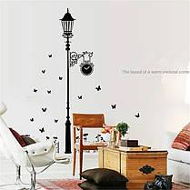 """Наклейка на стену, украшения стены наклейки для кухни """"столб с часами"""" 110см*185см (лист60*90см), фото 3"""