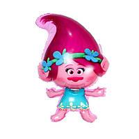 Фольгированный шарик фигурный Троль девочка