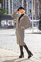 Прямое твидовое пальто ниже колена 60PA136, фото 1