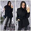 Короткое кашемировое женское пальто под пояс 52PA137