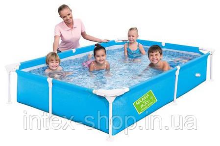 Детский каркасный бассейн Bestway 56219 (221 х 150 х 43 см.) (Зеленый), фото 2