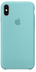 Чехол накладка xCase для iPhone XS Max Silicone Case бирюзовый