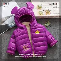 Стильная детская куртка Star с ушками 7442813-3, код (39769) в наличии: 80см,90см,100см,110см