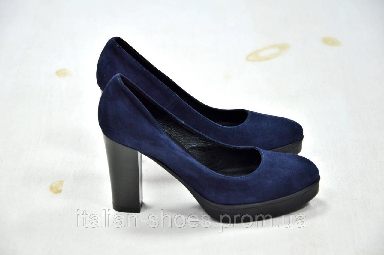 Туфли синие замшевые Donna Piu -760