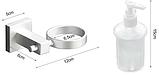 Дозатор для мыла в хроме 6-097, фото 2