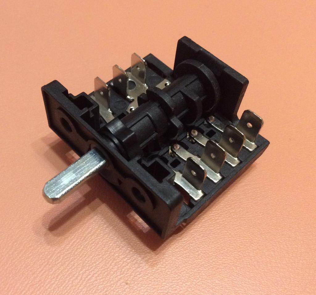 Переключатель шестипозиционный AC405B (AC4) / 16А / 250V / Т150 (контакты внутри 4+3)  JRGESON  Турция