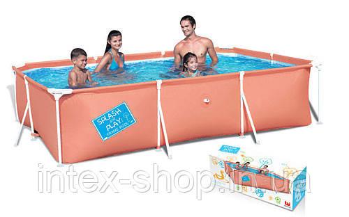 Детский каркасный бассейн Bestway 56222, размер 300 х 201 х 66 см (Красный)