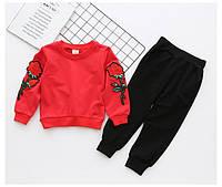 Комплект штаны+кофта с вышывкой для девочек 7443035, код (39693) в наличии: 90см