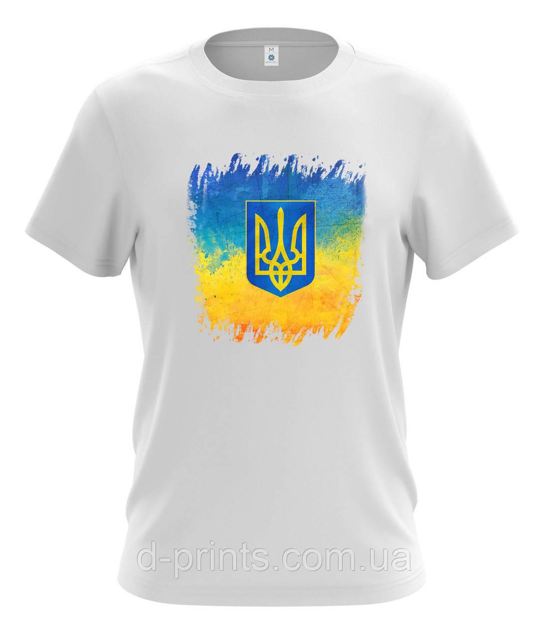 """Футболка чоловіча з малюнком """"Україна"""" MF-12-74"""