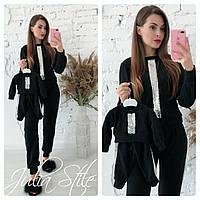 Спортивный костюм для мамы и дочки с пайетками 28NA21, фото 1