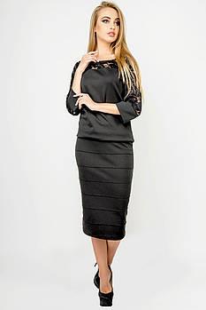 Жіноча спідниця Монті, прямий облягаючий силует, / розмір 44-52 колір чорний