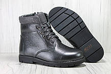 Підліткові зимові черевики для дівчаток натуральна кожаи натуральне хутро Alexandro