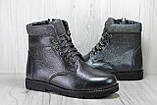 Підліткові зимові черевики для дівчаток натуральна кожаи натуральне хутро Alexandro, фото 5