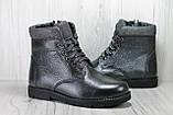 Подростковые зимние ботинки для девочек натуральная кожаи натуральный мех Alexandro, фото 5