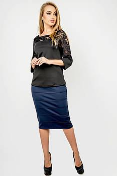 Жіноча спідниця Монті, прямий облягаючий силует, / розмір 44-52 колір синій