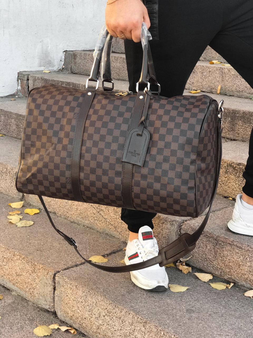 6ce05a669f8d Сумка дорожная Louis Vuitton D2159 коричневая - купить по лучшей ...